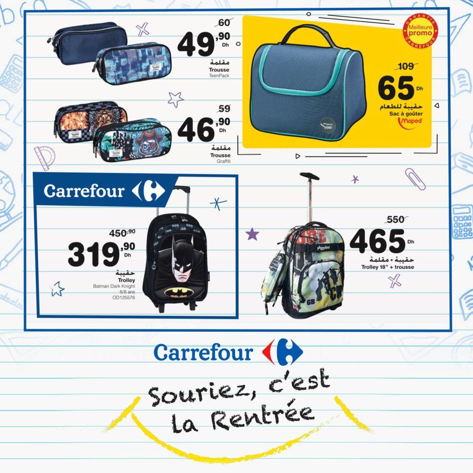 Flyer Carrefour Maroc Souriez c'est la Rentrée Jusqu'au 11 Septembre 2019
