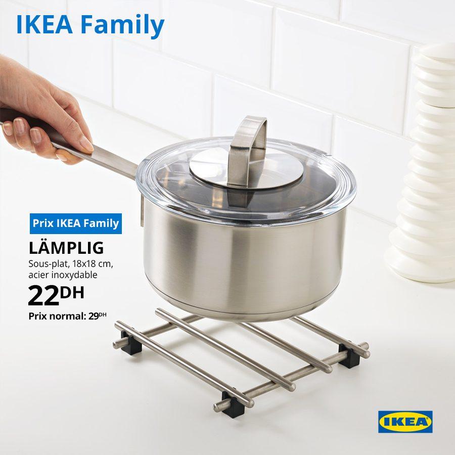 Soldes Ikea Family Sous-plat LAMPLIG 22Dhs au lieu de 29Dhs