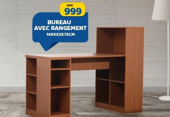 Photo of Soldes Marjane Bureau avec rangement 999Dhs au lieu de 1299Dhs