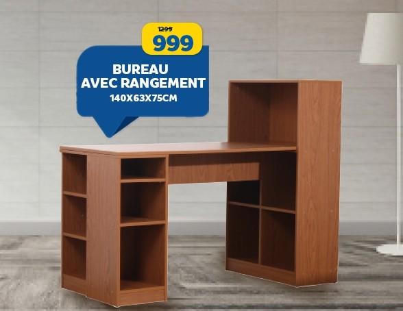 Soldes Marjane Bureau avec rangement 999Dhs au lieu de 1299Dhs