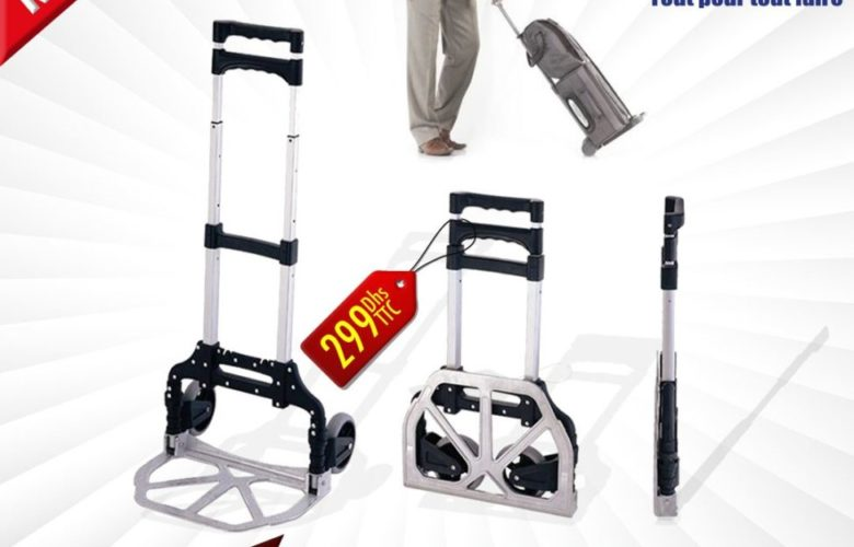 Offre Bricoma Chariot léger pliable facile à transporter 299Dhs