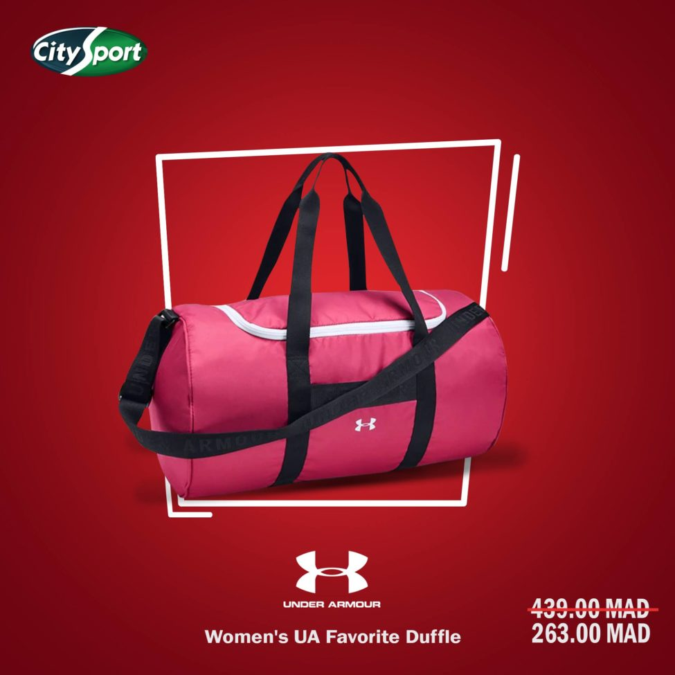 Soldes City Sport Sac UNDER ARMOUR Women's Favorite Duffle 263Dhs au lieu de 439Dhs