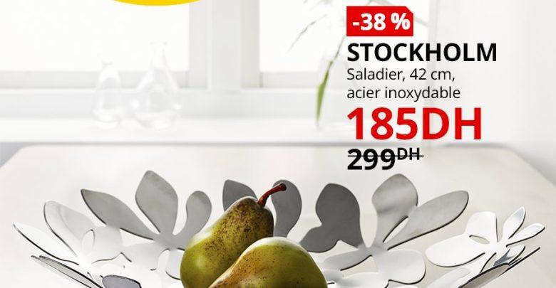 Photo of Soldes Ikea Maroc Saladier 42cm STOCKHOLM 185Dhs au lieu de 299Dhs