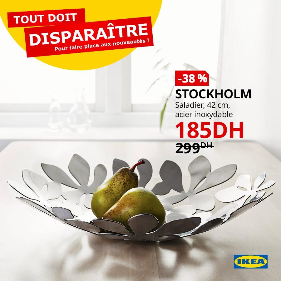 Soldes Ikea Maroc Saladier 42cm STOCKHOLM 185Dhs au lieu de 299Dhs