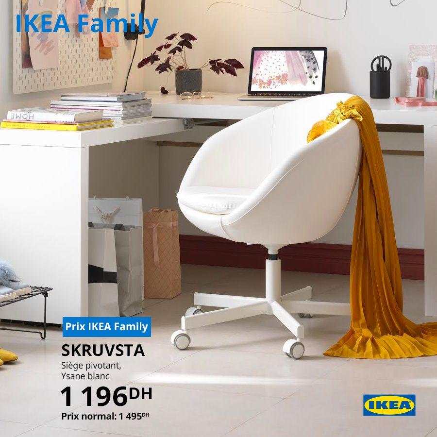 Soldes Ikea Family Siège pivotant 1196Dhs au lieu de 1495Dhs