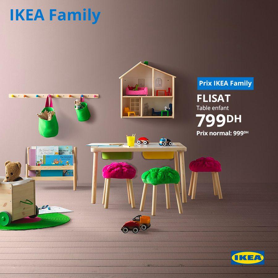 Soldes Ikea Family Table enfant FLISAT 799Dhs au lieu de 999Dhs