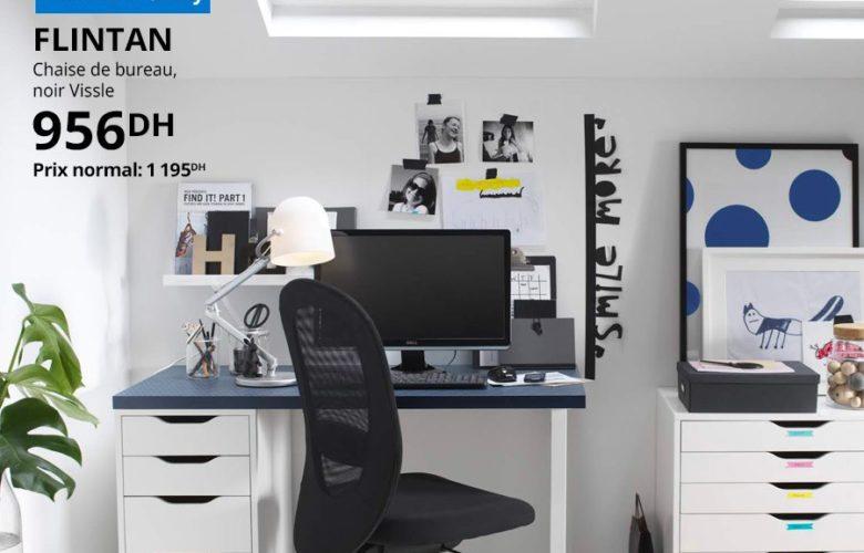 Soldes Ikea Family Chaise de bureau FLINTAN 956Dhs au lieu de 1195Dhs