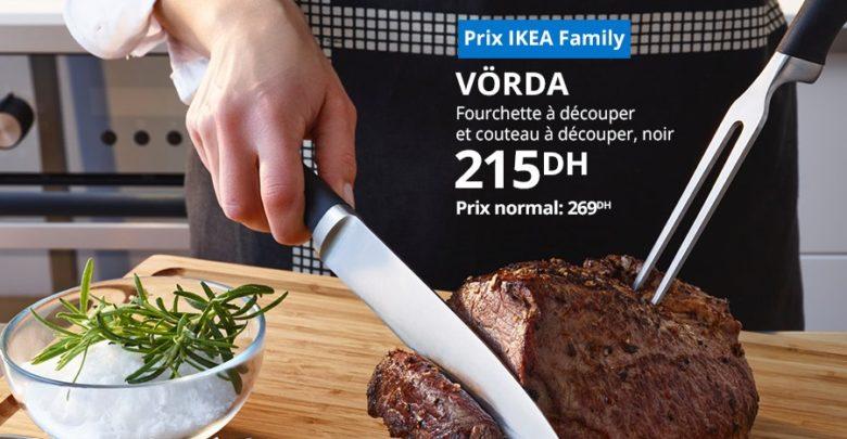 Photo of Soldes Ikea Maroc Fourchette et Couteau à découper 215Dhs au lieu de 269Dhs
