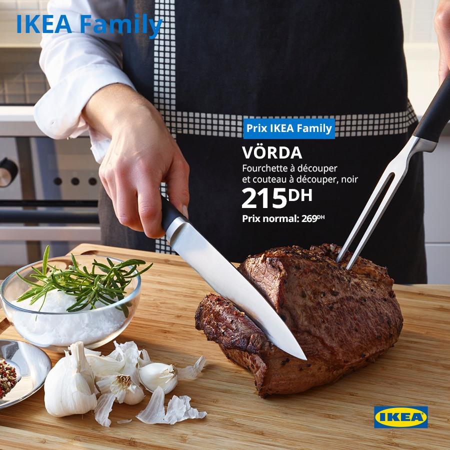 Soldes Ikea Maroc Fourchette et Couteau à découper 215Dhs au lieu de 269Dhs