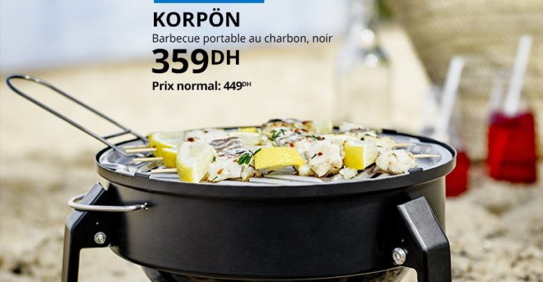 Photo of Soldes Ikea Family Barbecue portable KORPON 359Dhs au lieu de 449Dhs