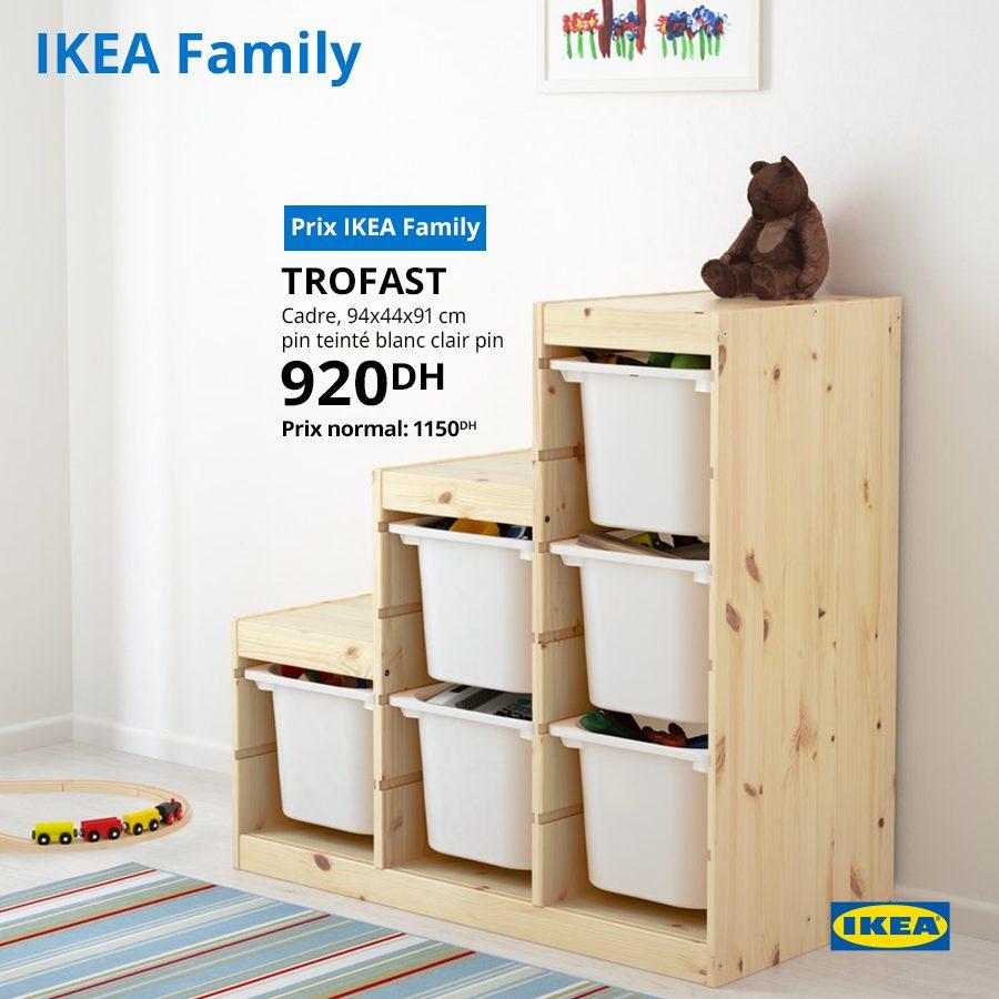 Soldes Ikea Family Cadre de rangement TROFAST 920Dhs au lieu de 1150Dhs