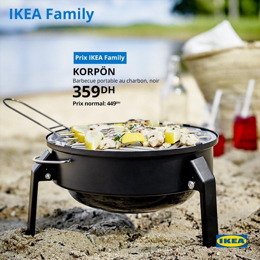 Soldes Ikea Family Barbecue portable KORPON 359Dhs au lieu de 449Dhs