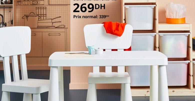 Photo of Soldes Ikea Maroc Table enfant MAMMUT 269Dhs au lieu de 339Dhs