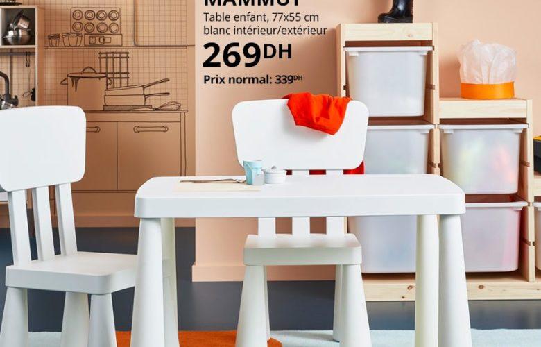 Soldes Ikea Maroc Table enfant MAMMUT 269Dhs au lieu de 339Dhs