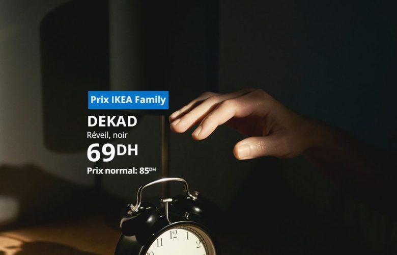 Soldes Ikea Family Réveil DEKAD 69Dhs au lieu de 85Dhs