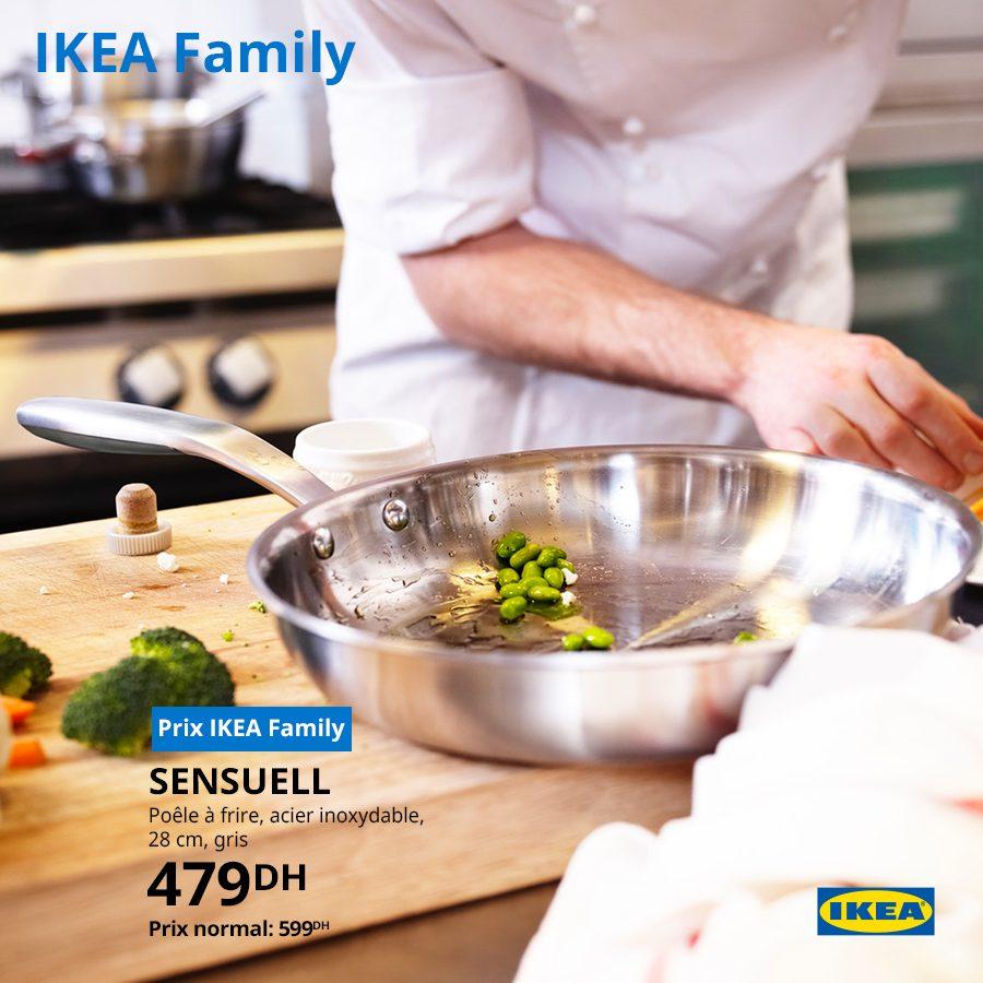 Soldes Ikea Family Poêle à frire SENSUELL 479Dhs au lieu de 599Dhs