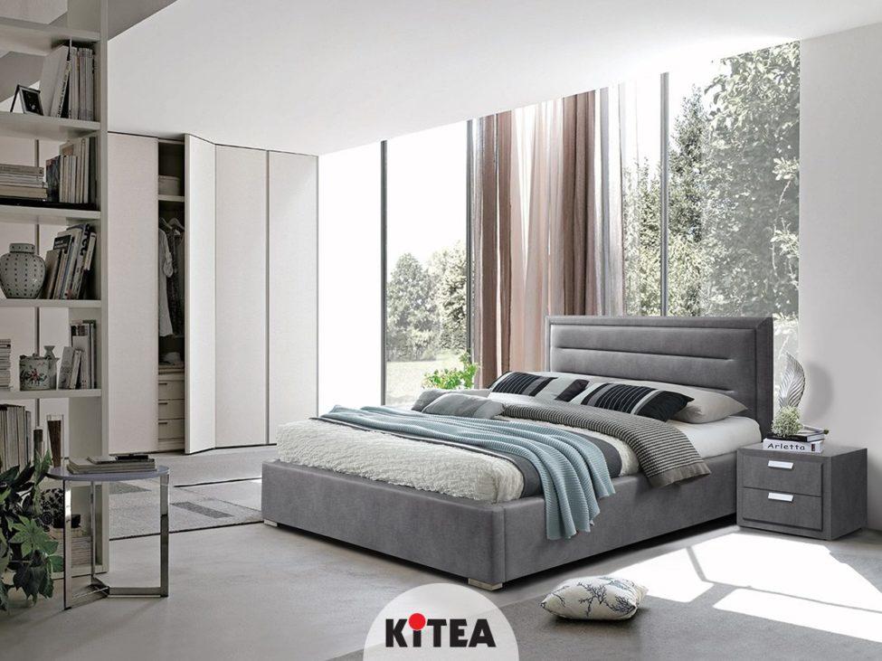 Soldes Kitea Lit CELINE 140x200 cm avec sommier 7390Dhs au lieu de 8390Dhs