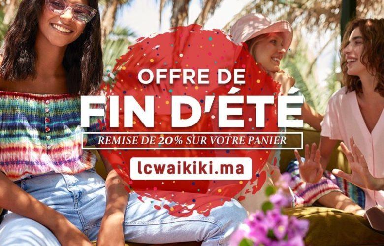 Offre fin d'été chez LC Waikiki Maroc Jusqu'au 23 Août 2019