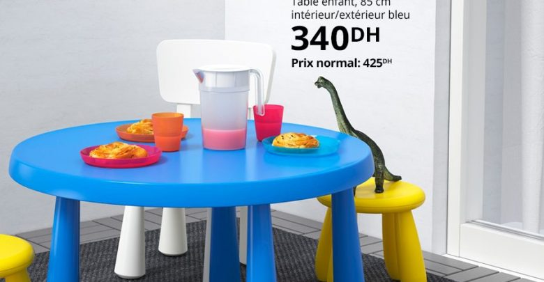 Photo of Soldes Ikea Family Table enfant MAMMUT 340Dhs au lieu de 425Dhs