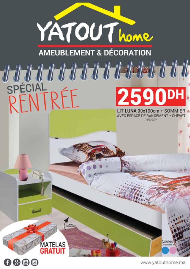 Catalogue Yatout Home Spéciale Rentrée Scolaire 2019