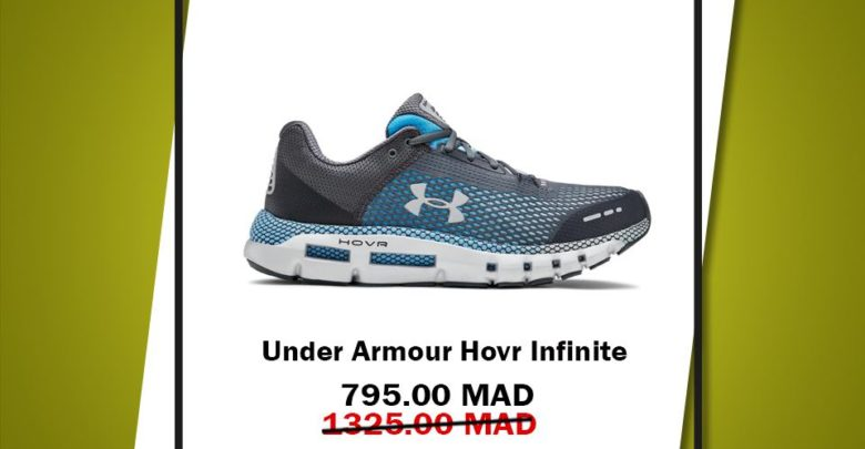 Photo of Soldes GO Sport Maroc UNDER AMOUR Hovr infinite 795Dhs au lieu de 1325Dhs