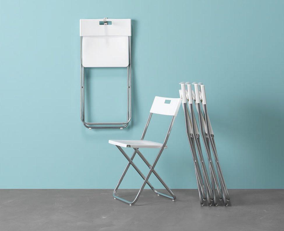 Offre Spéciale Ikea Maroc Chaise pliante blanc GUNDE 99Dhs