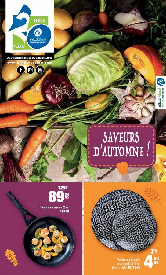 Catalogue Aswak Assalam SAVEUR D'AUTOMNE du 24 Septembre au 9 Octobre 2019