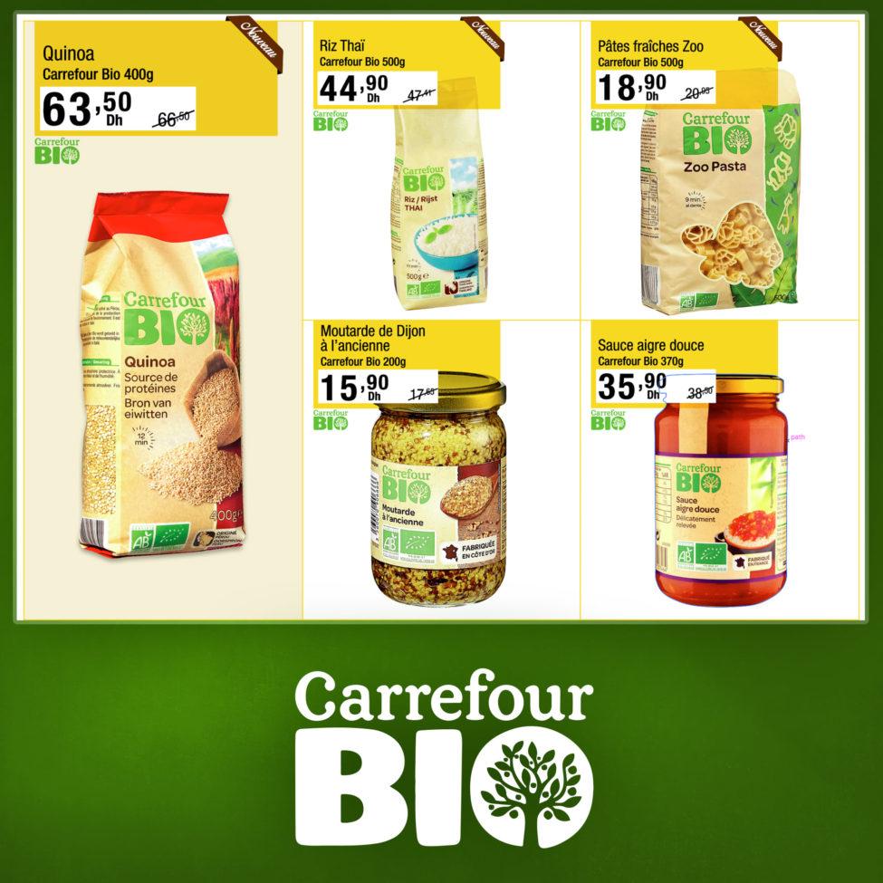 Promo Carrefour Market Gourmet une variété de produits BIO Jusqu'au 17 Septembre 2019