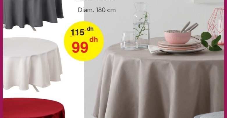 Photo of Promo Alpha55 Nappe anti-tâche 180cm 99Dhs au lieu de 115Dhs