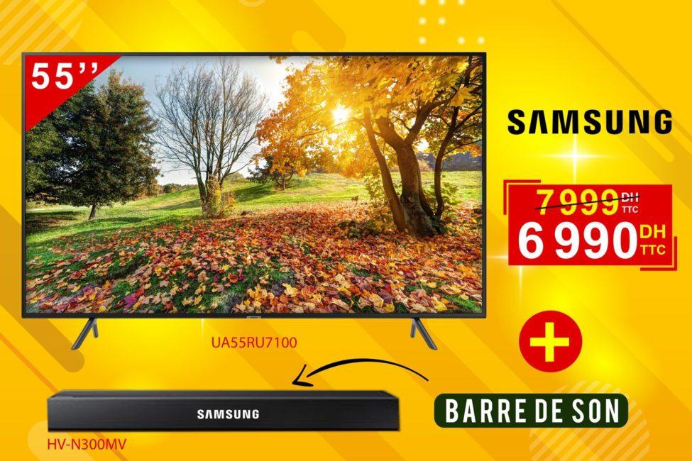 Promo Electro Bousfiha Smart TV SAMSUNG 55° UHD 6990Dhs au lieu de 7999Dhs