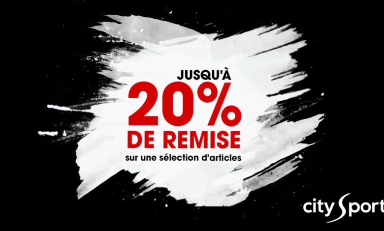 Photo of Promo City Sport 20% de remise sur une sélection de d'articles