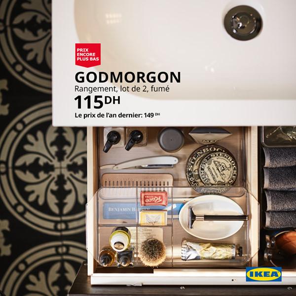 Soldes Ikea Maroc Lot de 2 Rangements GODMORGON 115Dhs au lieu de 149Dhs