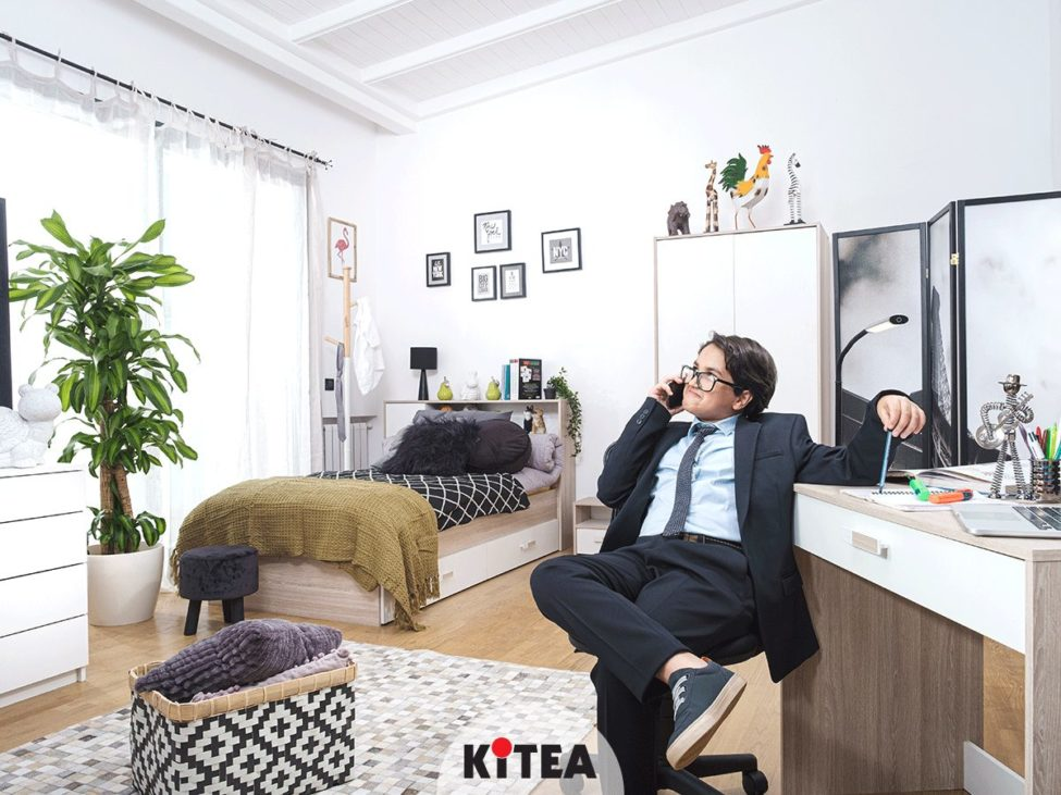 Soldes Kitea Lit couchage 90x190cm 795Dhs au lieu de 995Dhs
