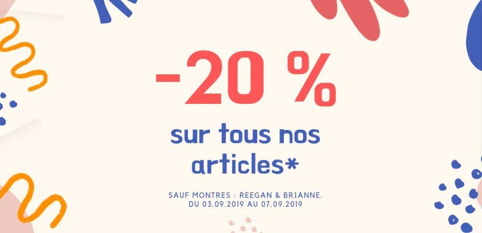 Soldes Sophie Paris Maroc -20% de réduction du 3 au 7 Septembre 2019
