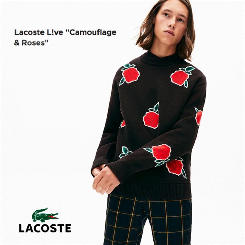 Lookbook LACOSTE Live Camouflage & Roses Jusqu'au 31 Décembre 2019