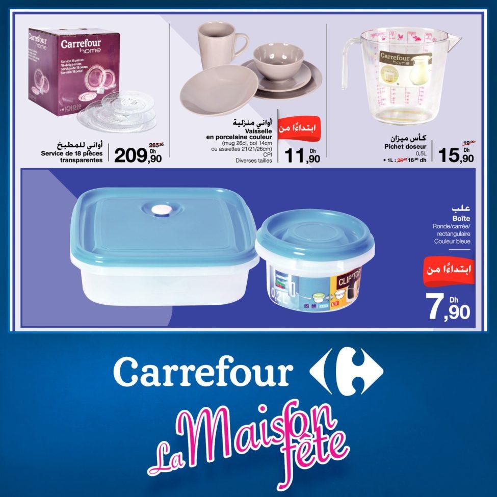 Flyer Carrefour Maroc La Maison fête jusqu'au 25 Octobre 2019