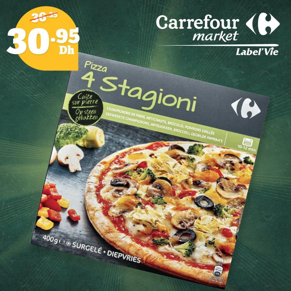 Promo Carrefour Market Pizzas rapide jusqu'au 15 Octobre 2019