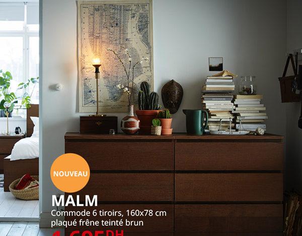 Photo of Soldes Ikea Maroc Commode MALM 6 Tiroirs 1695Dhs au lieu de 1995Dhs