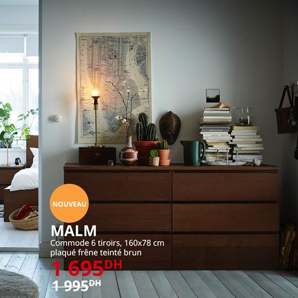 Soldes Ikea Maroc Commode MALM 6 Tiroirs 1695Dhs au lieu de 1995Dhs