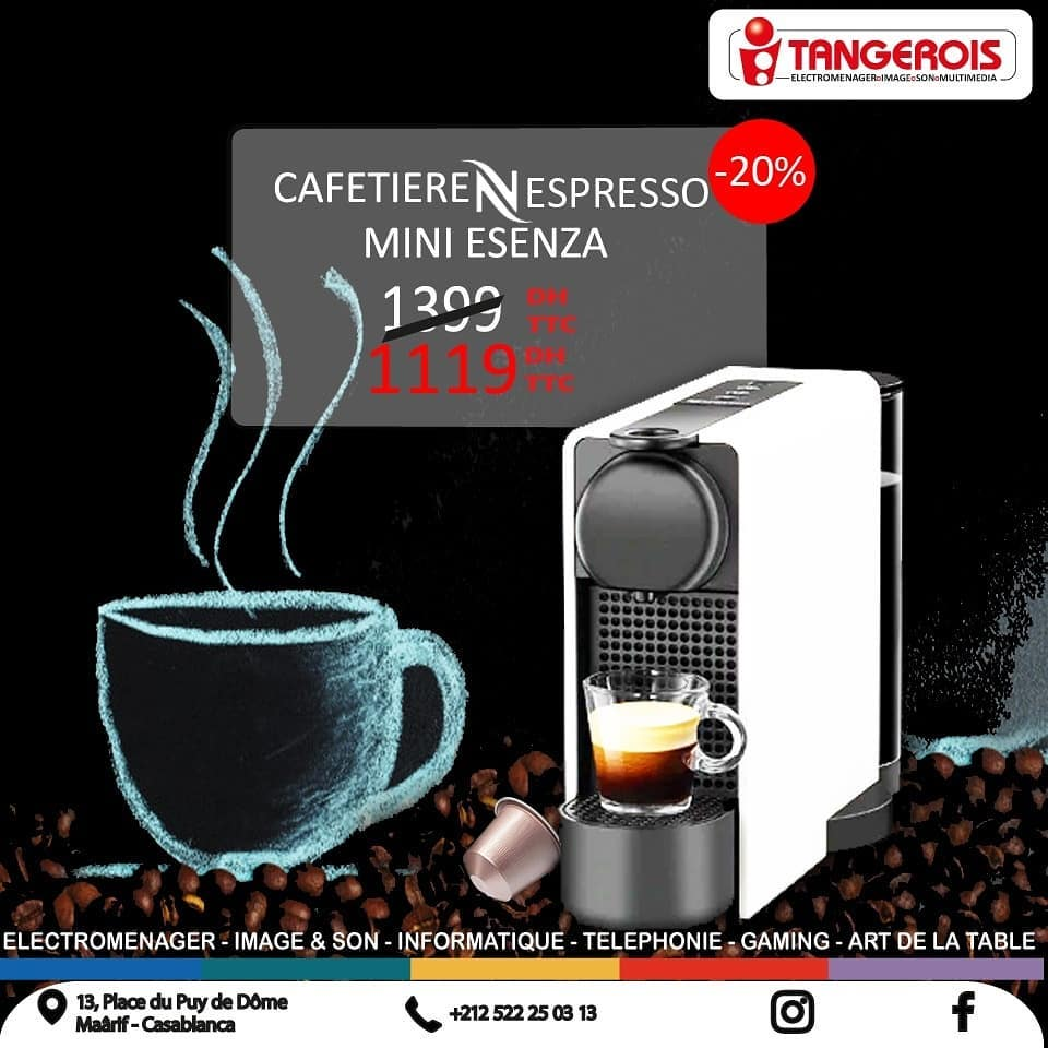 Promo Tangerois Electro Machines Nespresso jusqu'au 6 Octobre 2019