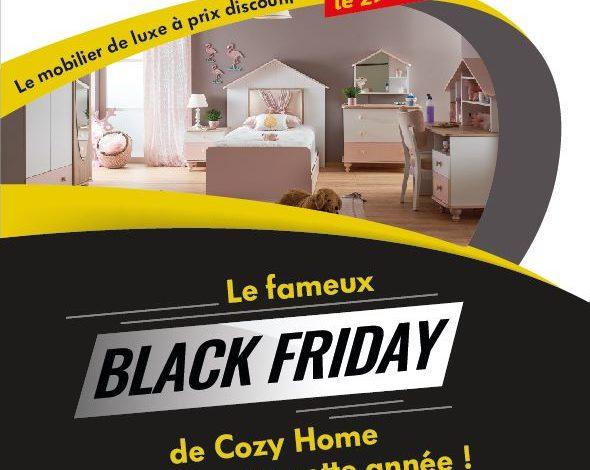 Annonce Black Friday Cozy Home le Vendredi 29 Novembre 2019
