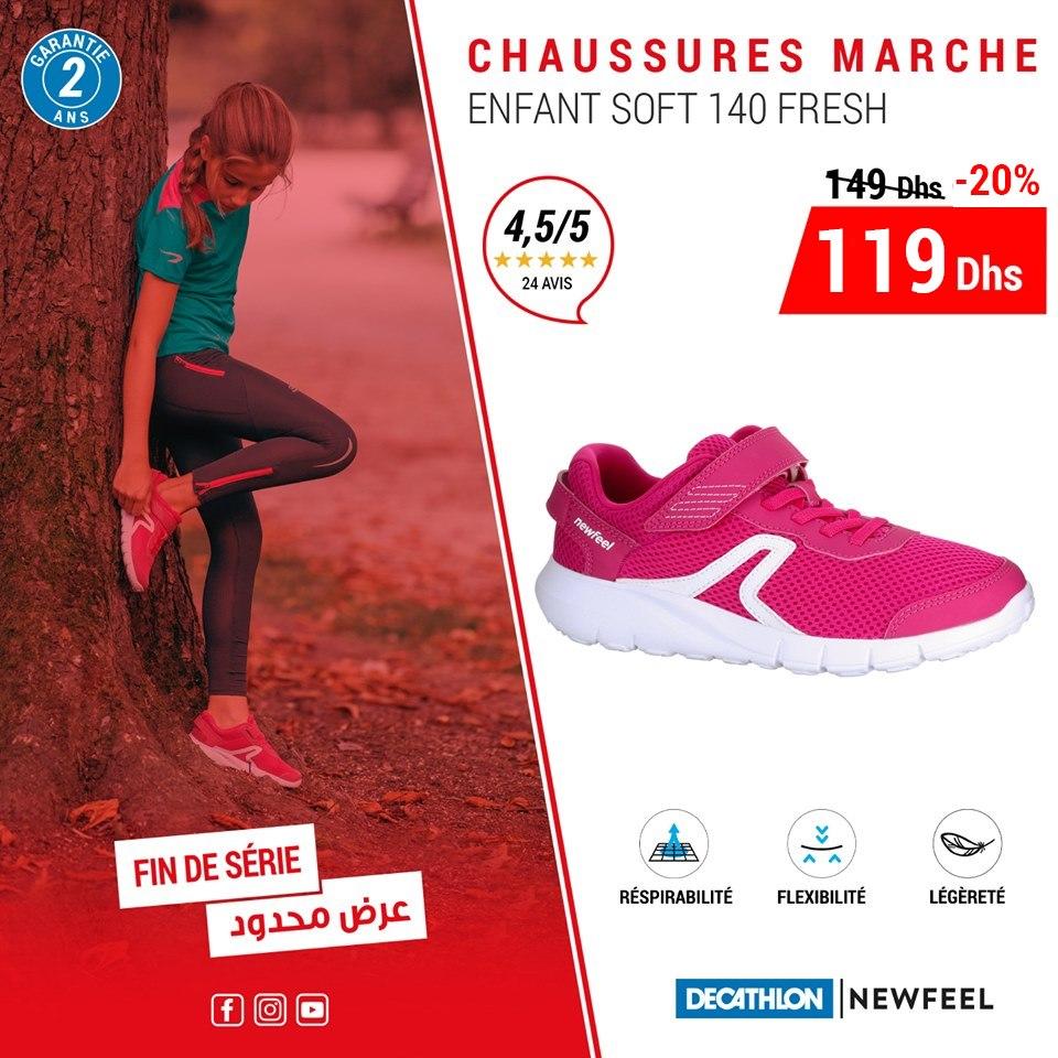 Soldes Decathlon Chaussures Marche Enfant NEWFEEL 119Dhs au lieu de 149Dhs