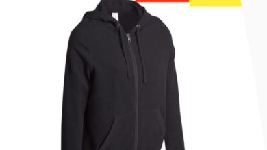 Photo of Soldes Decathlon VESTE 520 CAPUCHE PILATES GYM DOUCE FEMME NOIR 119Dhs au lieu de 159Dhs