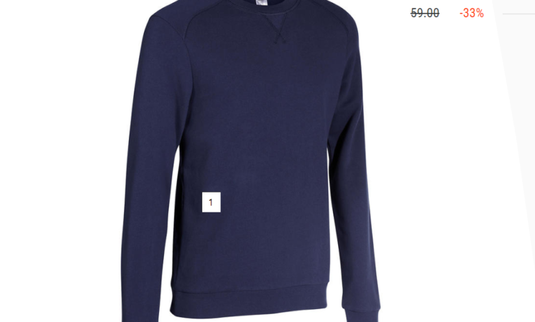 Photo of Promo Decathlon SWEAT COL ROND GYM & PILATES HOMME BLEU MARINE 39Dhs au lieu de 59Dhs