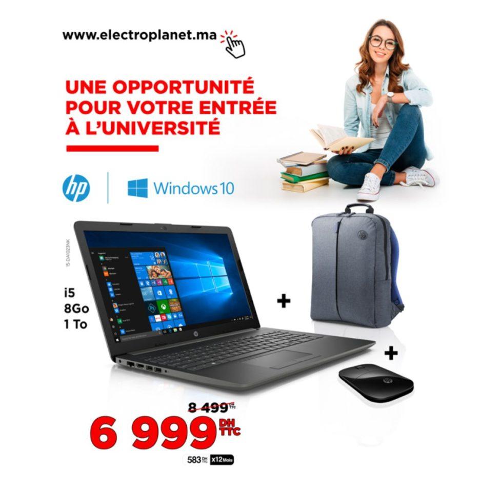 Promo Electroplanet Laptop HP i5 + Sacà dos + Souris 6999Dhs au lieu de 8499Dhs