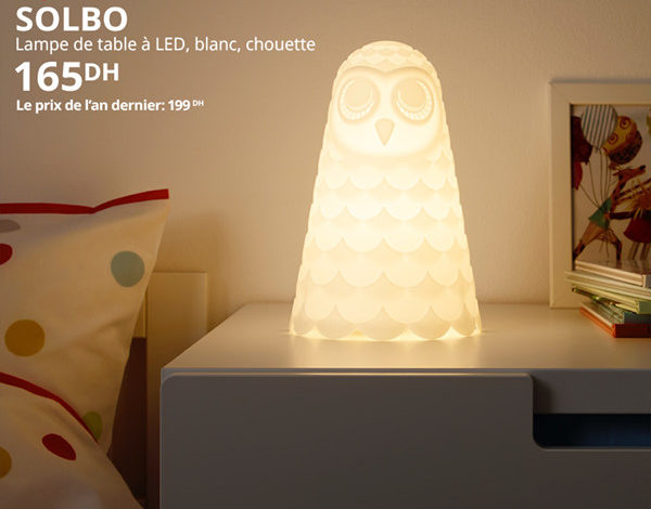 Photo of Soldes Ikea Maroc Lampe de table LED SOLBO 165Dhs au lieu de 199Dhs