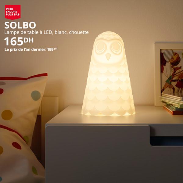 Soldes Ikea Maroc Lampe de table LED SOLBO 165Dhs au lieu de 199Dhs