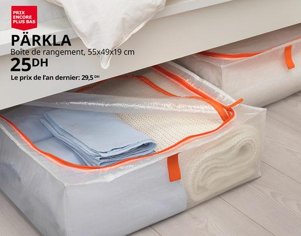 Soldes Ikea Maroc Boite de rangement PARKLA 25Dhs au lieu de 29.5Dhs