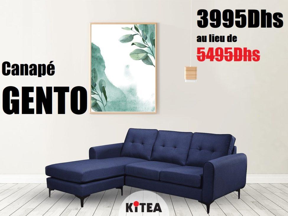 Soldes Kitea Canapé GENTO 3995Dhs au lieu de 5495Dhs