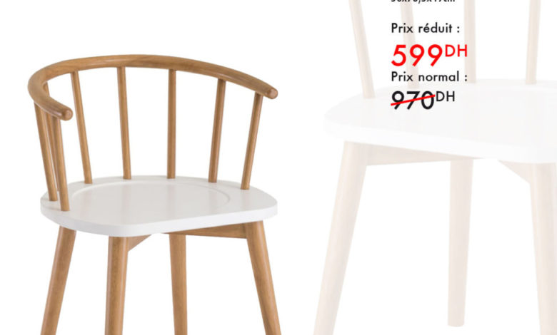 Photo of Promo Kaoba Ameublement Chaise MELANY 599Dhs au lieu de 970Dhs
